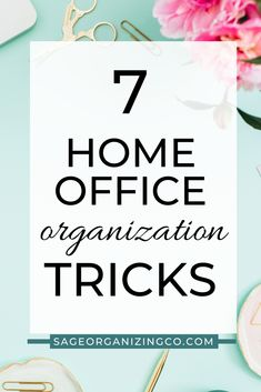 7 home office organization tricks - how to organize your home office - sage organizing co. - home organization + estate clearing tips, tricks, advice, and hacks Office Organization Tips, Receipt Organization, Organizing Your Home, Organizing Ideas, Making Life Easier, Family Organizer, Make It Work, How To Take Photos, Helping People