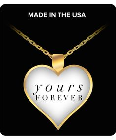 Beautiful gold-plated pendant necklace with touching message makes a loving Valentine's Day or birthday gift for your special someone or yourself!  #Valentine #Gifts #Jewelry #Pendant #Necklace #Love