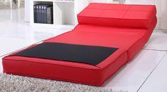 fauteuil chauffeuse convertible en lit d'appoint rouge: Amazon.fr: Cuisine & Maison