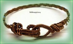 Kieputeltu rannekoru, wire wrapped bracelet