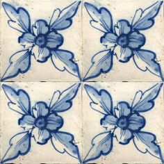 ♥ ~ ♥ Blue and White ♥ ~ ♥ Century Portuguese - Solar Antique Tiles Tile Art, Mosaic Tiles, Delft Tiles, Cement Tiles, Blue Tiles, Antique Tiles, Portuguese Tiles, White Decor, Tile Patterns