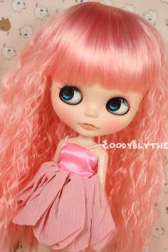 Goodyblythe Hair Wig for Blythe Pink Curve Lolita W305