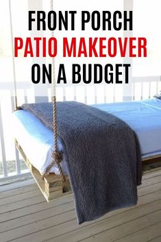 Easy front porch patio idea DIY. If you are looking for ideas how to make your front porch look good check out this before and after how to make over front porch on a budget inspiration. Patio Table, Diy Patio, Outdoor Sofa, Outdoor Spaces, Outdoor Living, Outdoor Furniture, Front Porch Remodel, Lounge Party, Gravel Patio