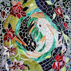 Pisces, Mosaic Labyrinth Nice!  like mosaic fish patterns