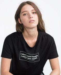 LONG PRINTED T - SHIRT - T - shirts - TRF | ZARA Turkey