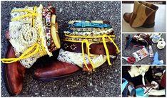 Cinturón bohemio: | 14 Botas DIY que te enamorarán