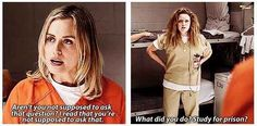 """When she studied for prison.   17 Of The Whitest Things Piper Chapman Said In """"Orange Is The New Black"""""""
