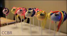 My little pony inspired pops. #cupcakesbyrach