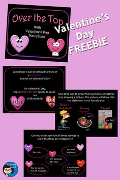 Valentine's Day Metaphors - a FREE PowerPoint for a fun figurative language lesson