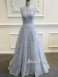 Appliques Vintage Round Neck Sleeveless Lace Prom Dresses, Lace Bridesmaid Dresses, Formal Dresses #shinyparty #prom #dress #formal #dresses #long #roundneck #lace #promdress #formaldress #bridesmaid #longdress #roundneckdress #lacedress #bridesmaiddress #longlacedress