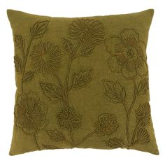 Perfect for both living room and bedroom décor, the Stone Washed Floral Throw Pillow is very versatile. Match with solid colors or patterns, or keep it simple and make a statement on its own. Green Throw Pillows, Floral Throw Pillows, Throw Pillow Sets, Toss Pillows, Pillow Covers, Floral Throws, Muted Colors, Solid Colors, Cotton Pillow