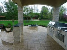 Summer Kitchen U0026 Fire Pit   Eclectic   Patio   Houston   By Collinas Design  U0026