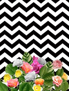 CHEVRON FLORES » Prints
