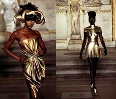 Retrospective: Givenchy Haute Couture S/S 1997 by Alexander McQueen Alexander Mcqueen Designs, Alexander Mcqueen Dresses, Givenchy, Timeless Fashion, High Fashion, Classic Wedding Gowns, Naomi Campbell, Dress Making, Catwalk