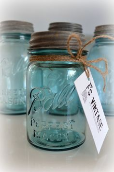 FS Vintage Soy Candles / Mason Jars / Vintage / Industrial / Homewares