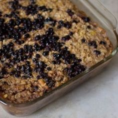 In this baked oatmeal recipe, rolled oats, fruit, nuts, vanilla and other spices melt into a delicious dish perfect for breakfast or brunch.data-pin-do= Healthy Recipes, Cooking Recipes, Nut Recipes, Amish Recipes, Healthy Eats, Healthy Foods, Brunch Recipes, Breakfast Recipes, Breakfast Dishes