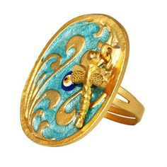 Oval Blue Ring $23