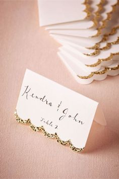 A little glitter trim is sure to make any design pop! + 15 Table Card Ideas for Every Bride