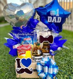 Diy Father's Day Gifts, Father's Day Diy, Gifts For Dad, Great Gifts, Fathers Day Gift Basket, Fathers Day Crafts, Surprise Box, Happy Birthday Cards, Gift Baskets