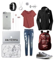 """Untitled #54"" by kherzog11 on Polyvore featuring Tommy Hilfiger, H&M, Converse, The North Face, Apple, Vinyl Revolution, Agent 18, EWA and Tiffany & Co."