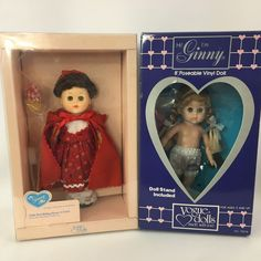 "Vogue Dolls Lot of 2 Little Red Riding Hood & Ginny 8"" #71019 1988 #70016 1985 #Vogue #DollswithClothingAccessories"