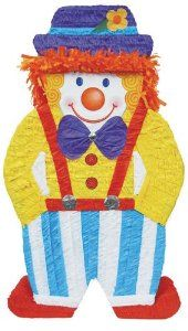 "Clown Giant Pinata Party Accessory by YA OTTA PINATA. $36.00. Includes (1) themed pinata. 36""H x 21""W. Holds up to 10 pounds of candy (not included)."