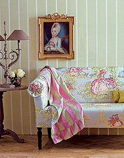 Обои, плед и обивочная ткань из коллекции Marie Antoinette, Zimmer+Rohde by Etamine