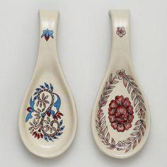 Ceramic Spoon Rest, Set of 2
