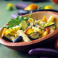 Grilled Vegetable Salad with Garlic Dressing. #recipes