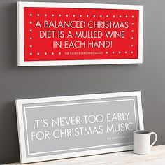 Personalised Christmas Motto Print  I like the bottom one but not in those  colours it should be in the red with the stars xxxx