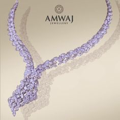 Walk into a room and steal the show with this breath-taking diamond necklace from Amwaj Jewellery