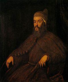 """1570 - """"Doge Alvise Mocenigo"""" by Tintoretto, oil, canvas"""