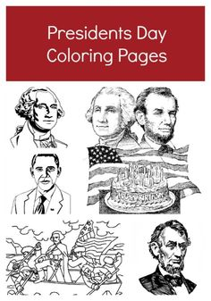 President 39 s Day coloring pages All the US presidents
