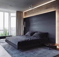100 + Fresh Bedroom Relaxed to Take A Rest - javgohome-Home Inspiration Modern Bedroom Decor, Master Bedroom Design, Bedroom Designs, Bedroom Ideas, Modern Bedrooms, Bed Room Design Modern, Modern Bedroom Lighting, Hotel Bedroom Design, Bedroom Interiors