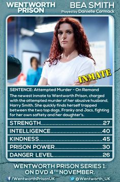 Wentworth Prison character card of Bea Smith