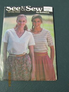 Vintage 1980's Butterick See and Sew Pattern 6396 by DoodahsAttic, $3.00