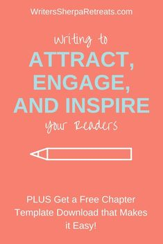 Writing to Attract, Engage, and Inspire— Click to get a free nonfiction book chapter template! Writing tips, writing inspiration, make money writing, become an author, write a book, write a nonfiction book, write a self help book Make Money Writing, Start Writing, Writing Help, Essay Writing, Writing A Book, Authors, Writers, Sell Your Books, Becoming A Writer