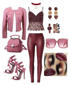 """Pink & Red"" by eda-edos on Polyvore featuring moda, Charlotte Russe, Miss Selfridge, Chanel, Jessica Carlyle, MANGO ve Gucci"