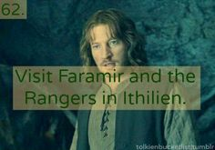 I thought of a great fan fic where the main character is a female Ranger, her father is Madril, and she's super protected by her father and Faramir, her best friend (not romantic interest!).