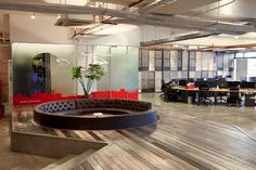 22 Gorgeous Startup Offices You Wish You Worked In | BuzzFeed (I like this circular seating area)