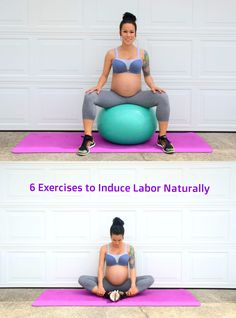 6 Exercises to induce labor naturally via @diaryoffitmom