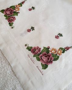 Hello, we said we should do this model. Bargello, Diy And Crafts, Cross Stitch, Embroidery, Knitting, Tablecloths, Design, Letters With Flowers, Face Towel