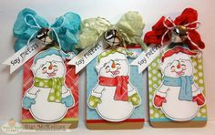 Snowman Tag Trio by GiGi618 - Cards and Paper Crafts at Splitcoaststampers