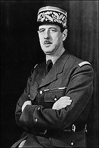Charles de Gaulle, inspiration (from afar in London) for the French resistance. From a broadcast in London, de Gaulle urged, The flame of the French resistance must not be extinguished and will not be extinguished. World History, World War Ii, Celebridades Fashion, French Resistance, French People, Gaulle, French History, French Army, World Leaders