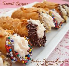 Cannoli Recipes. These really aren't that tough to make.  They just look fancy pants! ~ Lisa