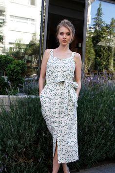 Sommer-Baumwoll-Kleid mit Knöpfen von NelliUzun auf Etsy