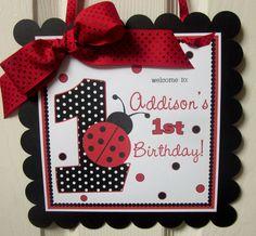 NEW - Classic Ladybug - Happy Birthday Banner. $15.00, via Etsy.