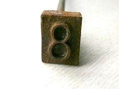 Japanese Yakiin Kanji Branding Iron 8 eight by VintageFromJapan, $15.00
