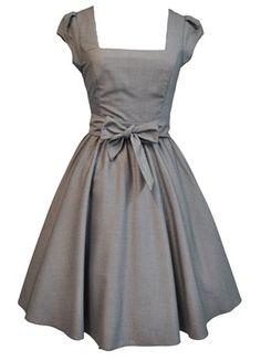 pretty grey dress!