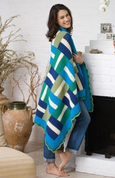 "Free pattern for ""Rail Fence Throw""!"